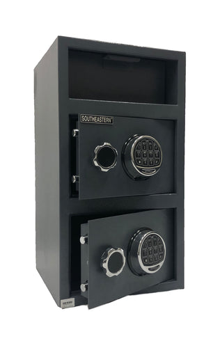 SOUTHEASTERN 660EE double door deposit drop safe quick access electronic lock with back up key