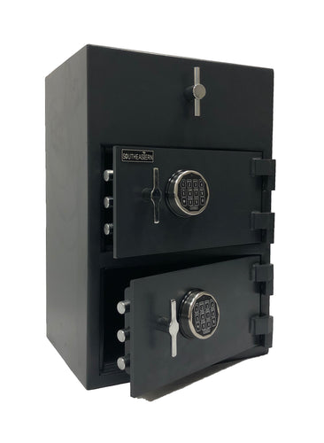 SOUTHEASTERN RH3020 Double Door Drop Depository Safe with Quick elecytonic Lock