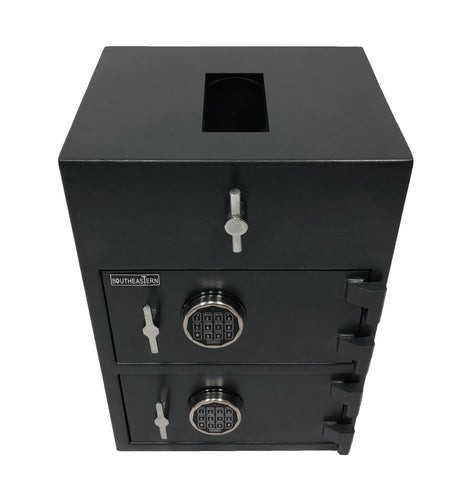 SOUTHEASTERN RH3020 Double Door Drop Depository Safe Quick elecytonic Lock w/ back up key