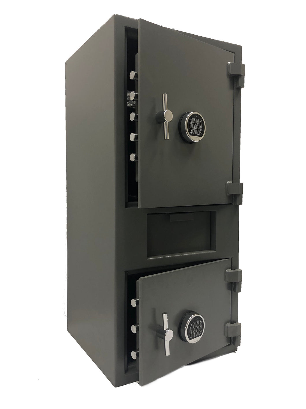 SOUTHEASTERN F4520EE double door drop slot depository safe with quick digital lock and back up key
