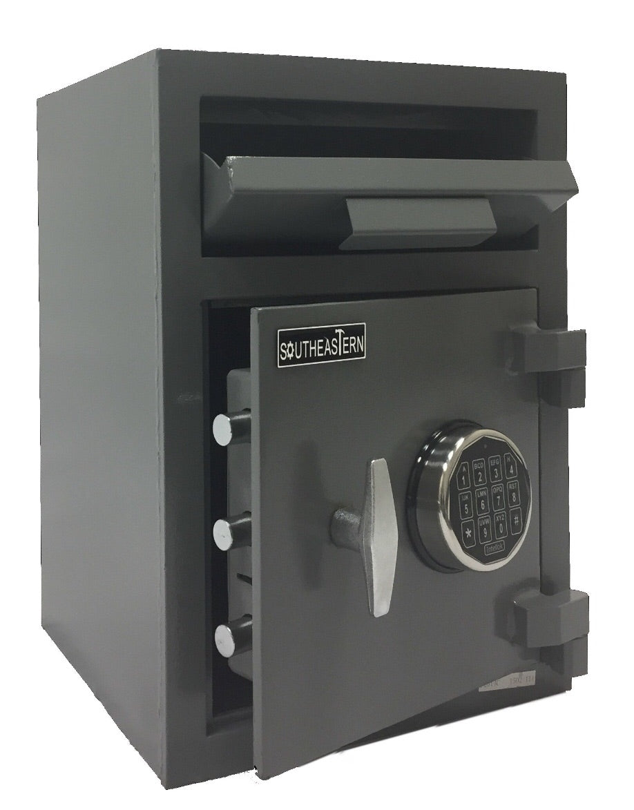F2014E Cash Drop Depository Safe Quick Digital Lock with back up keys