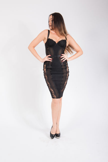 Agent Provocateur Zelma Satin Contour Dress