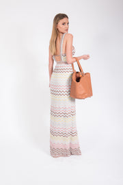 M Missoni  Rainbow Chevron Maxi Dress