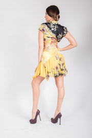 Roberto Cavalli Printed Short Sleeve Dress