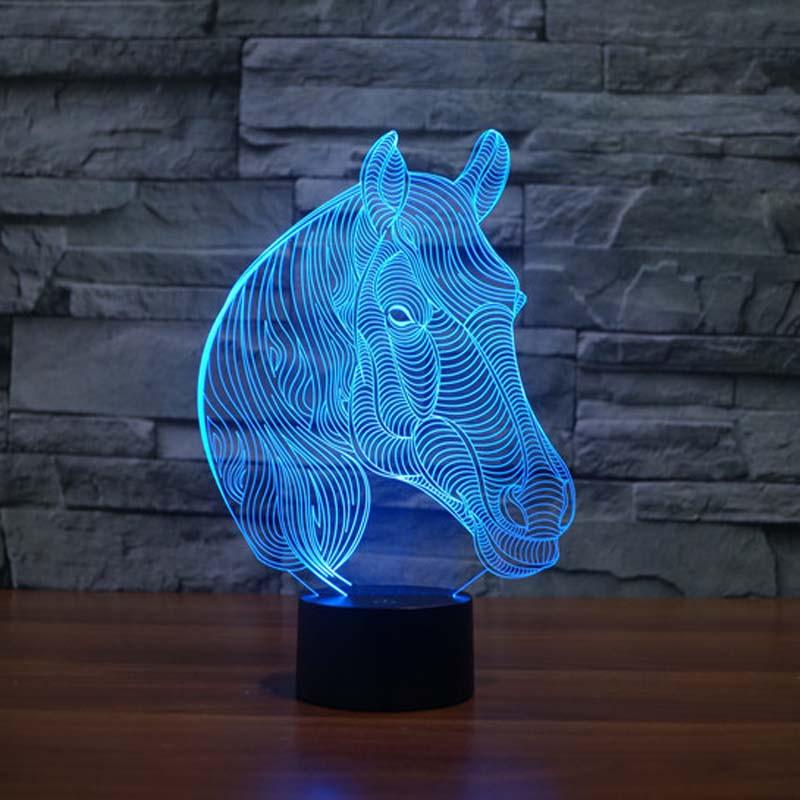 Color Changing Horse Night Light