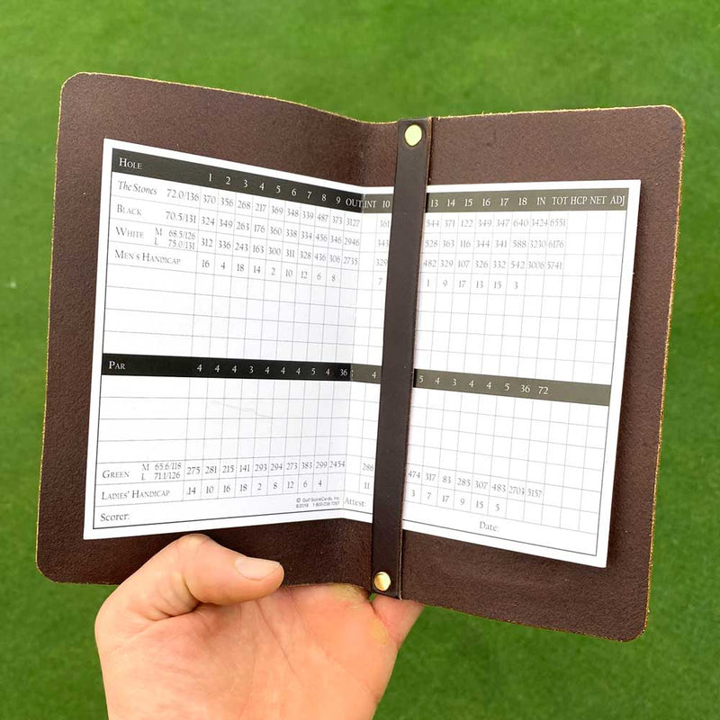Dark Brown Yardage Book Cover