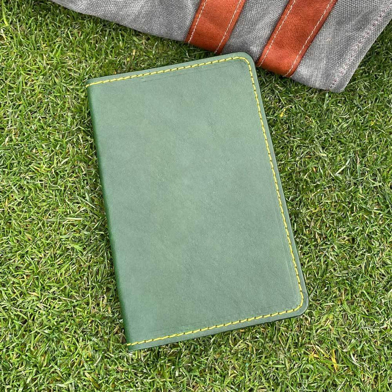 Green Jacket Scorecard Holder with pencil loop front cover