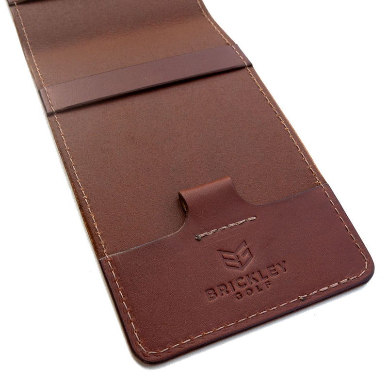 Classic Brown Yardage Book Cover