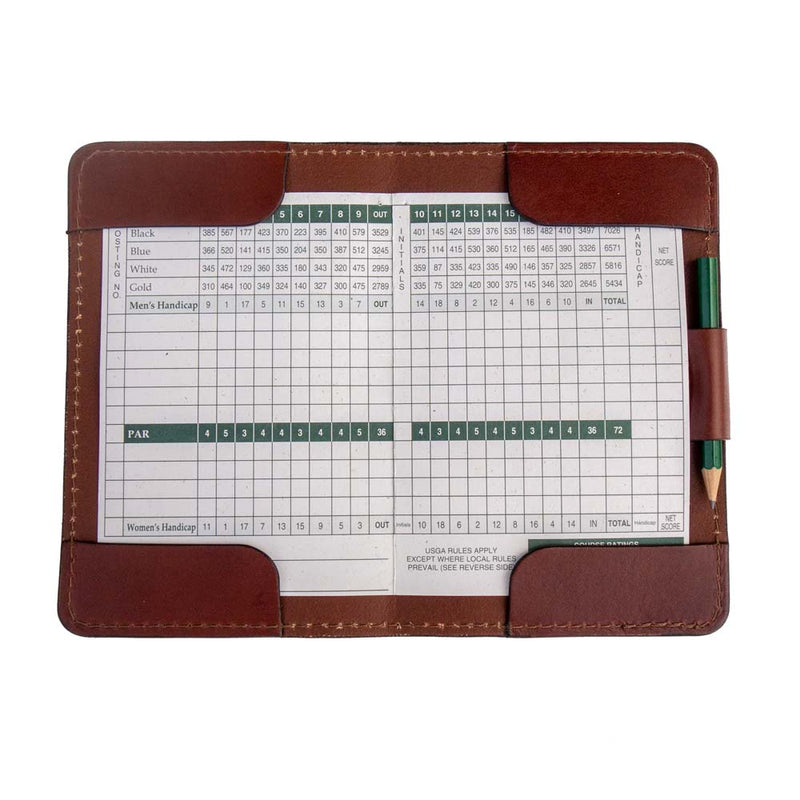 Navy Blue Yardage Book Cover and Scorecard Holder