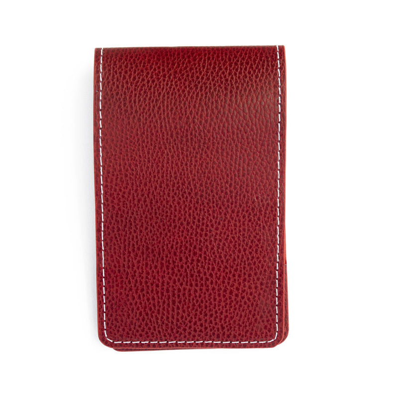 Red pebble yardage book cover