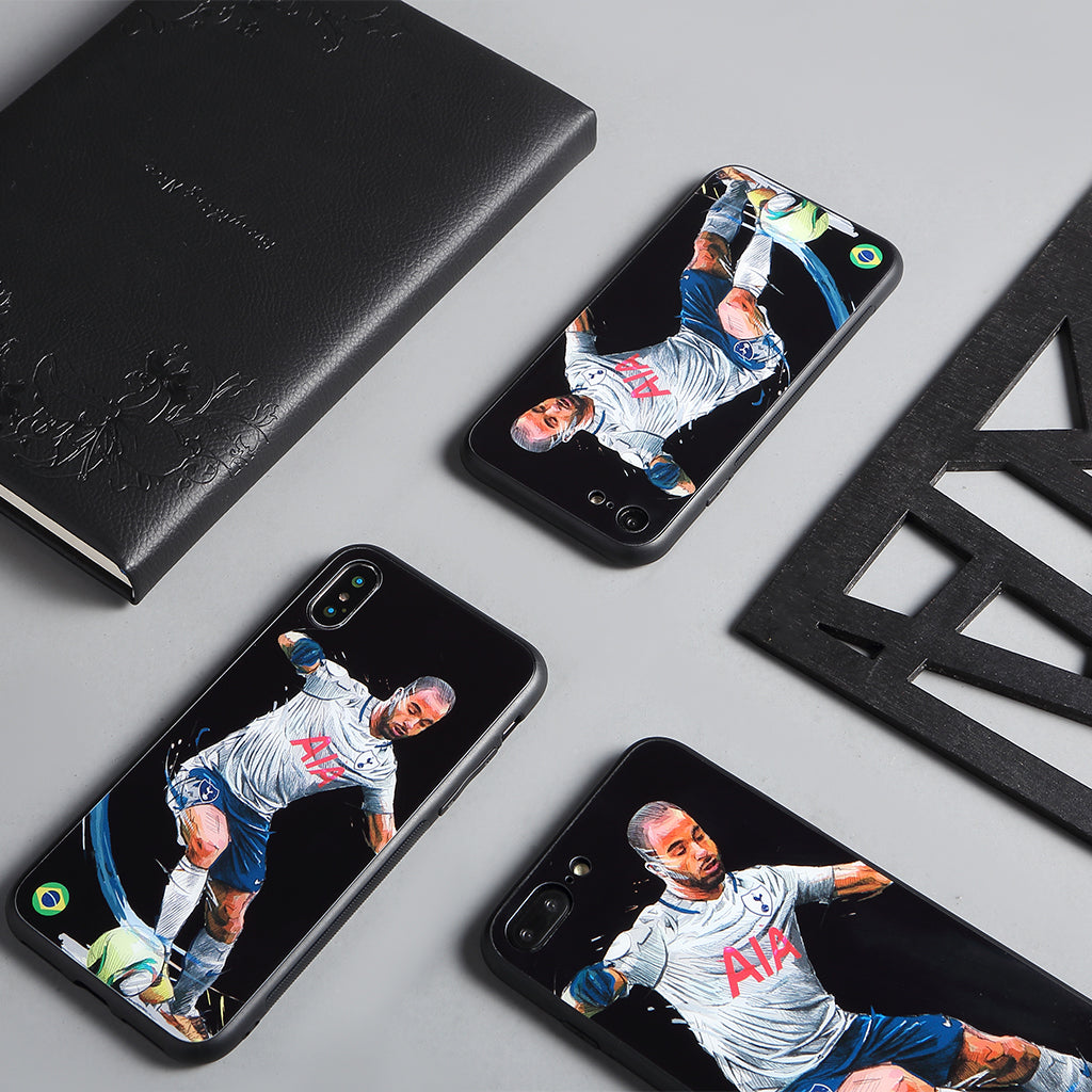Lucas Moura, Football Fandom Toughened Glass iPhone Case