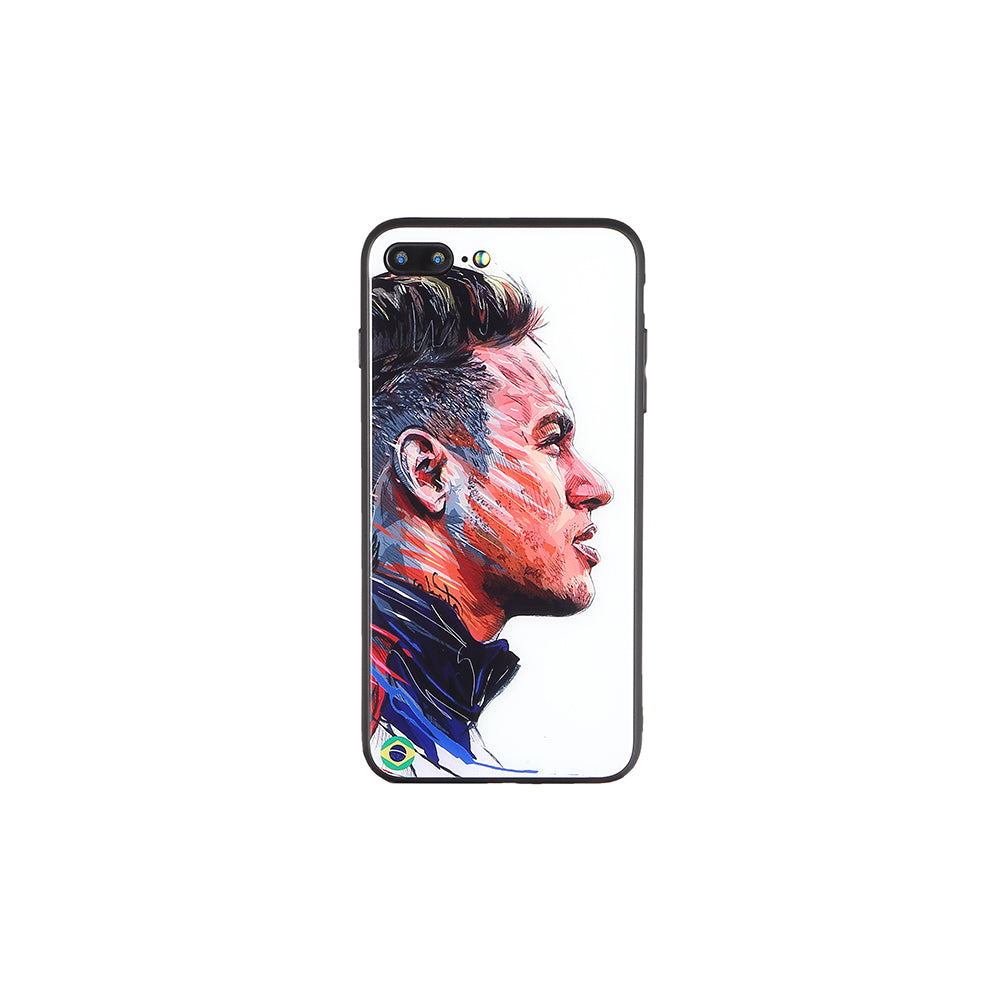 Neymar #3, Football Fandom Toughened Glass iPhone Case