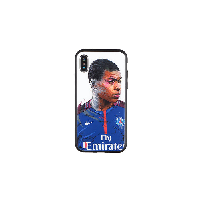 Kylian Mbappé #2, Football Fandom Toughened Glass iPhone Case