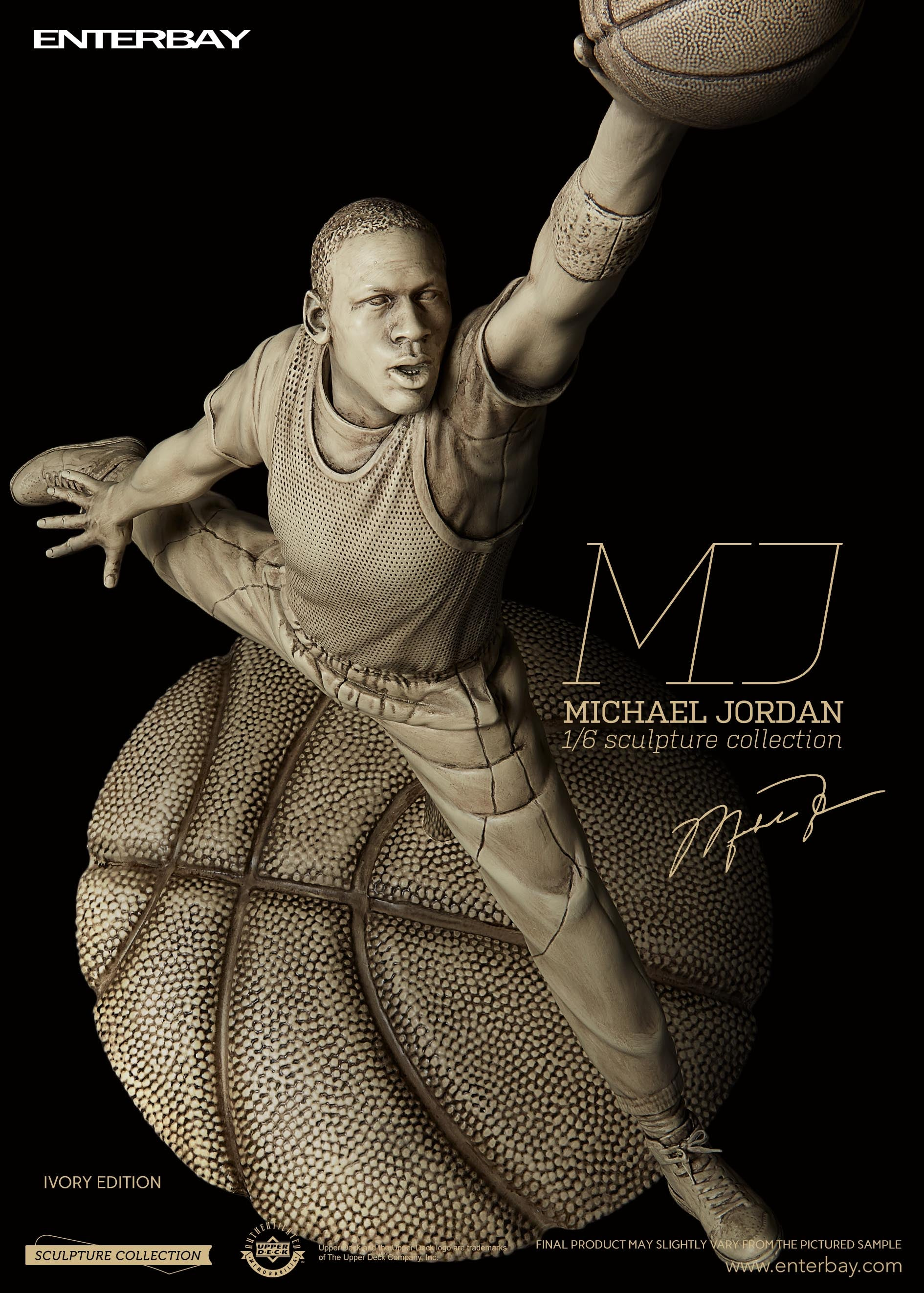 ENTERBAY 1/6 Sculpture Collection - Michael Jordan Ivory Edition Limited(Now Available)