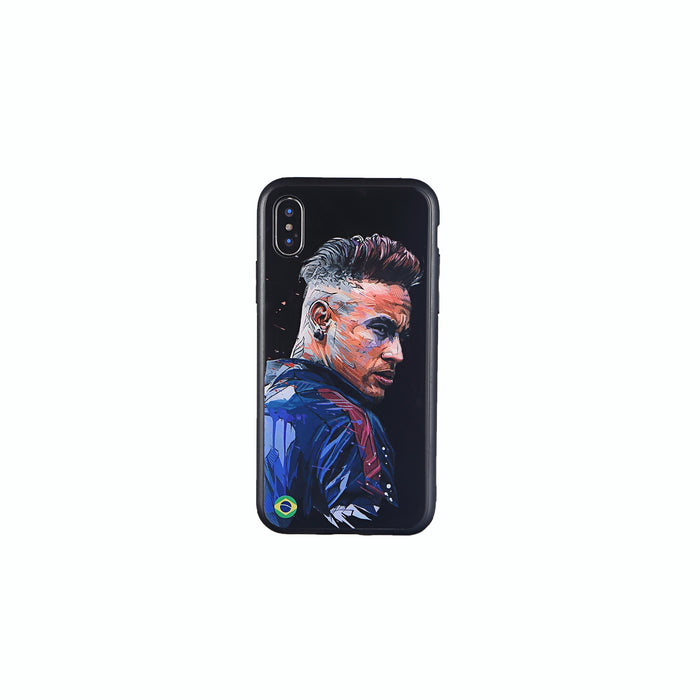 Neymar #2, Football Fandom Toughened Glass iPhone Case