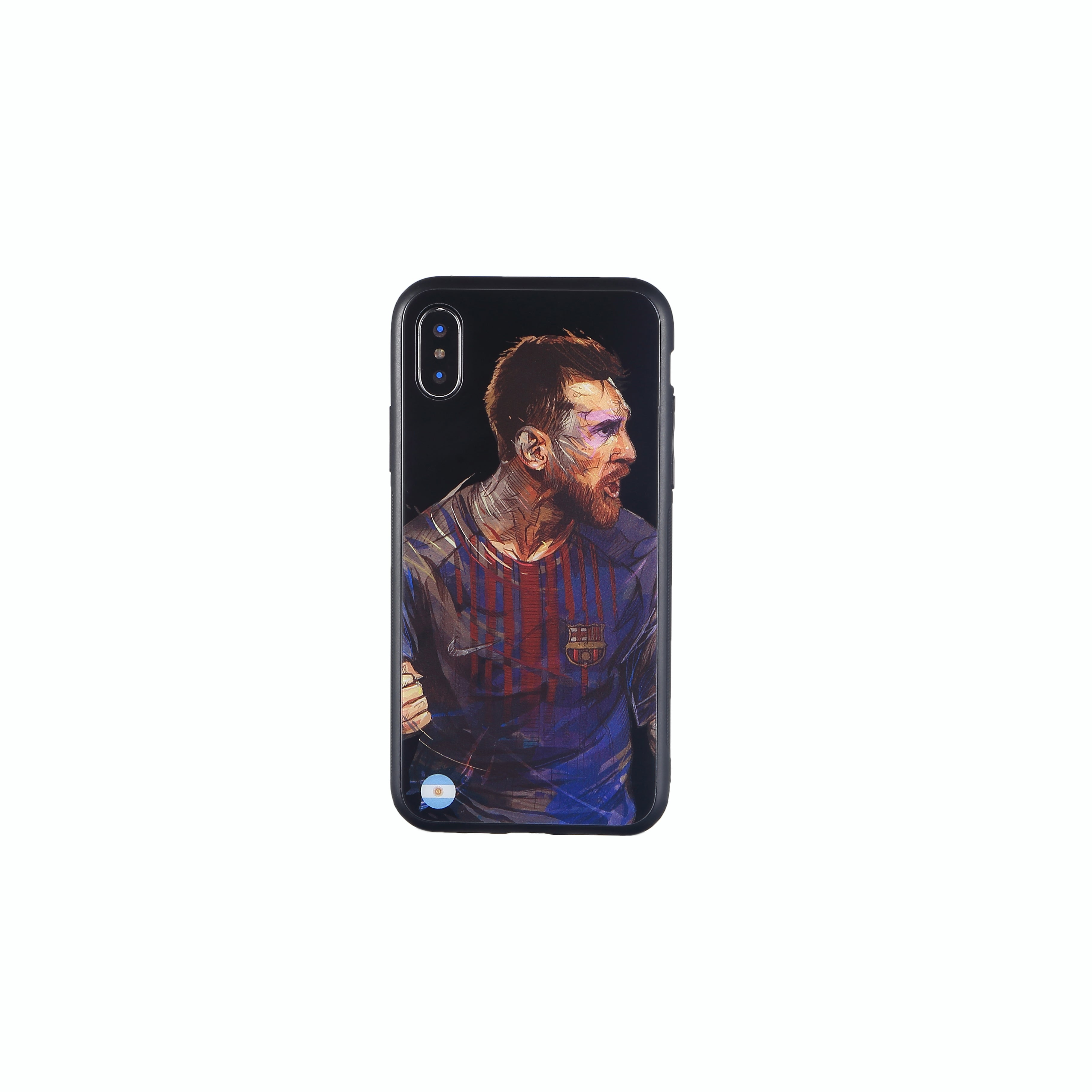 Lionel Messi, Football Fandom Toughened Glass iPhone Case