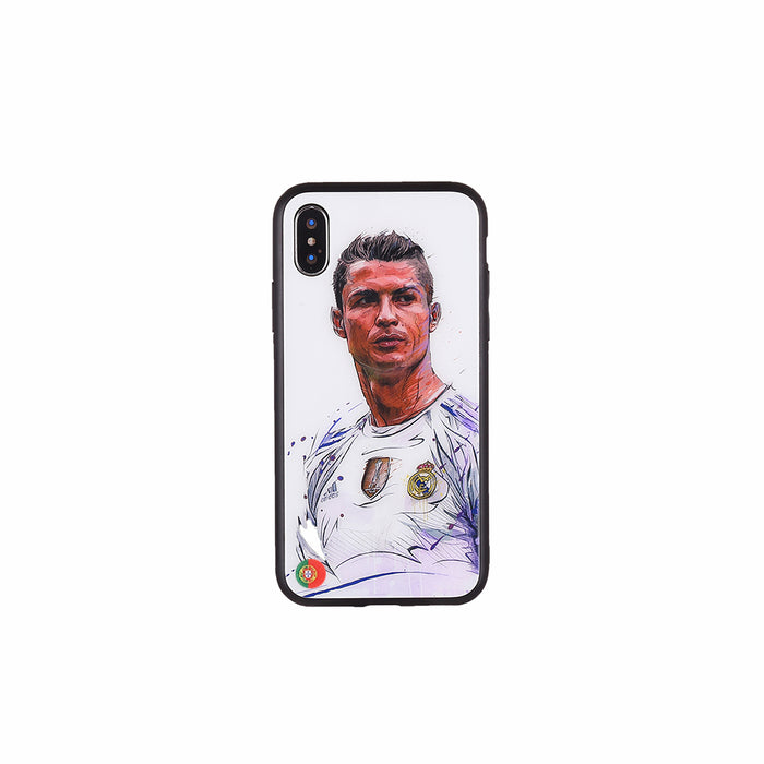 Cristiano Ronaldo, Football Fandom Toughened Glass iPhone Case