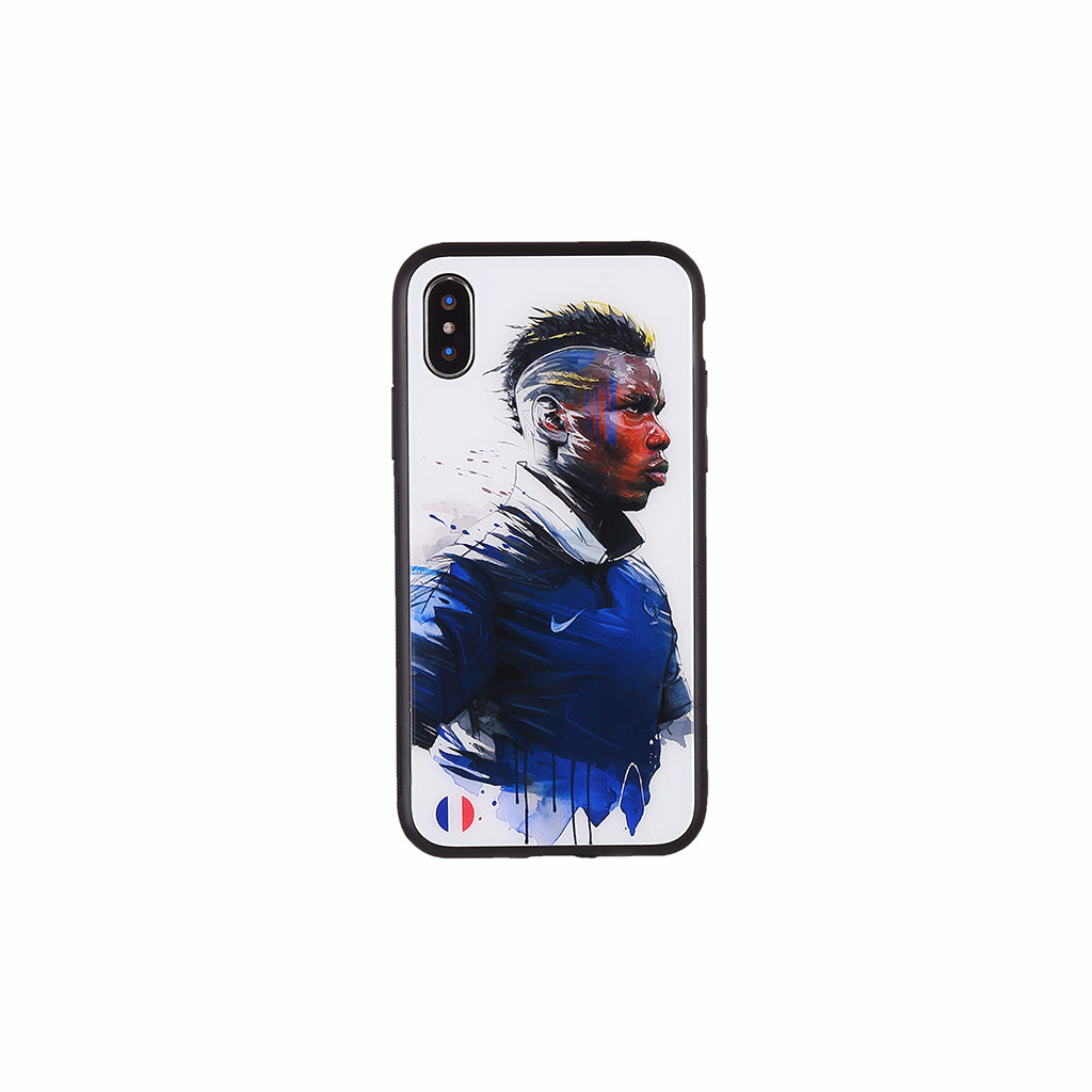 Paul Pogba#2, Football Fandom Toughened Glass iPhone Case