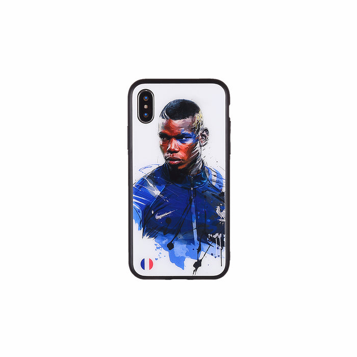 Paul Pogba#3, Football Fandom Toughened Glass iPhone Case