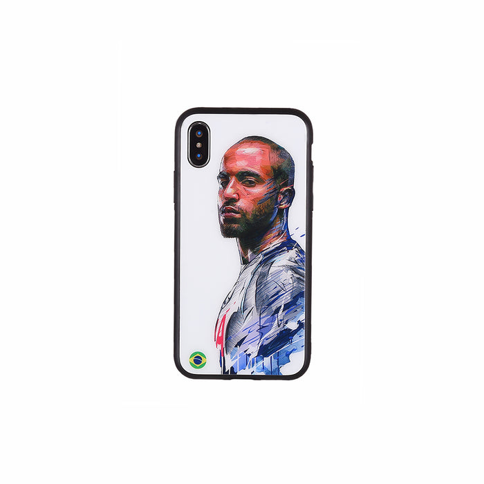 Lucas Moura #2, Football Fandom Toughened Glass iPhone Case