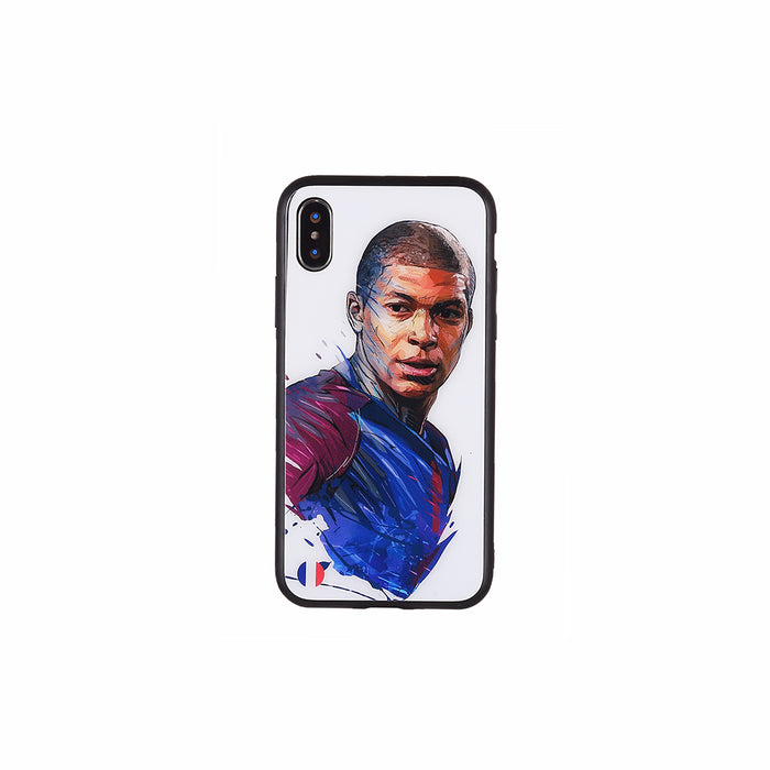 Kylian Mbappé #3, Football Fandom Toughened Glass iPhone Case