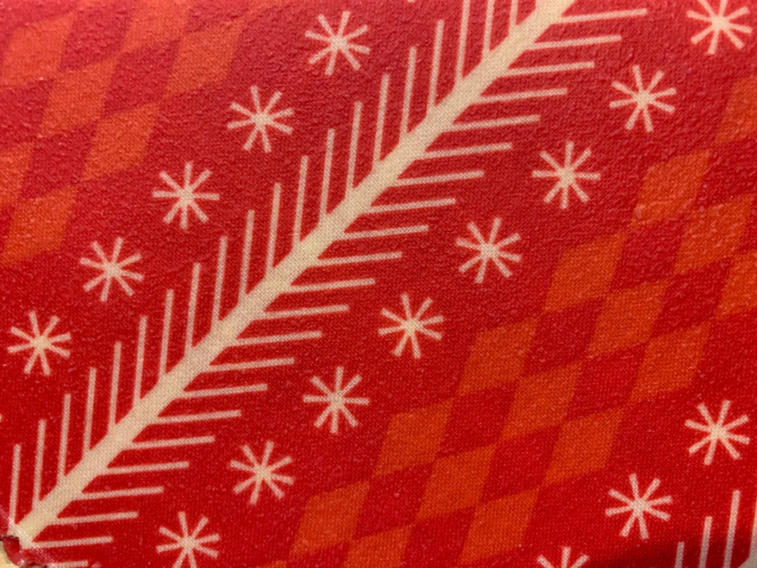Beeswax Wraps - Red Holiday