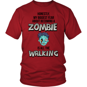 All Woman Brands Zombie Walking Dead Funny Unisex T-shirt, Small - 4XL