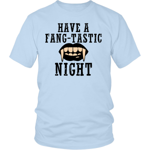 "All Woman Brands ""Fang-tastic"" Funny Halloween Unisex T-shirt, Small - 4XL"