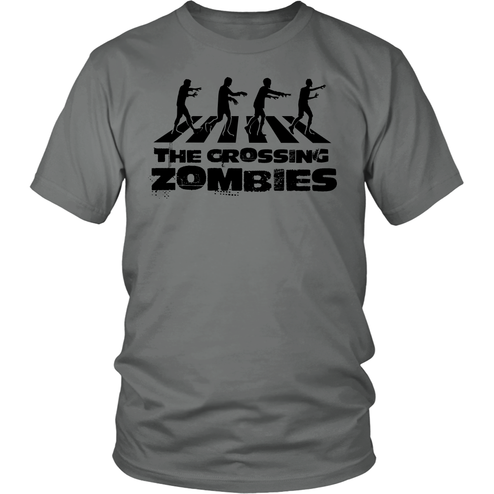 "All Woman Brands ""Crossing Zombies"" Funny Halloween Unisex T-shirt, Small - 4XL"