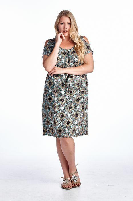 Women's Plus Size Challis Dress
