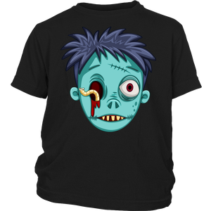 "All Woman Brands ""Zombie"" Halloween Unisex Youth T-shirt, XS - Large"