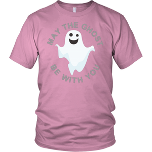 "All Woman Brands ""May the Ghost Be With You"" Funny Halloween Unisex T-shirt, Small - 4XL"