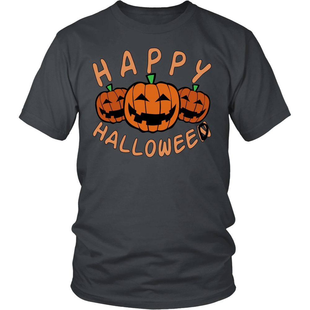 "All Woman Brands ""Happy Halloweed"" Funny Halloween Unisex T-shirt, Small - 4XL"