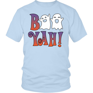 "All Woman Brands ""Boo Yah Ghosts"" Funny Halloween Unisex T-shirt, Small - 4XL"