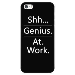 "All Woman Brands ""Shh... Genius. At. Work."" Funny iPhone 5/5S/SE Case"