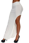 Women's Skirt Split Open Side Full Length Rayon