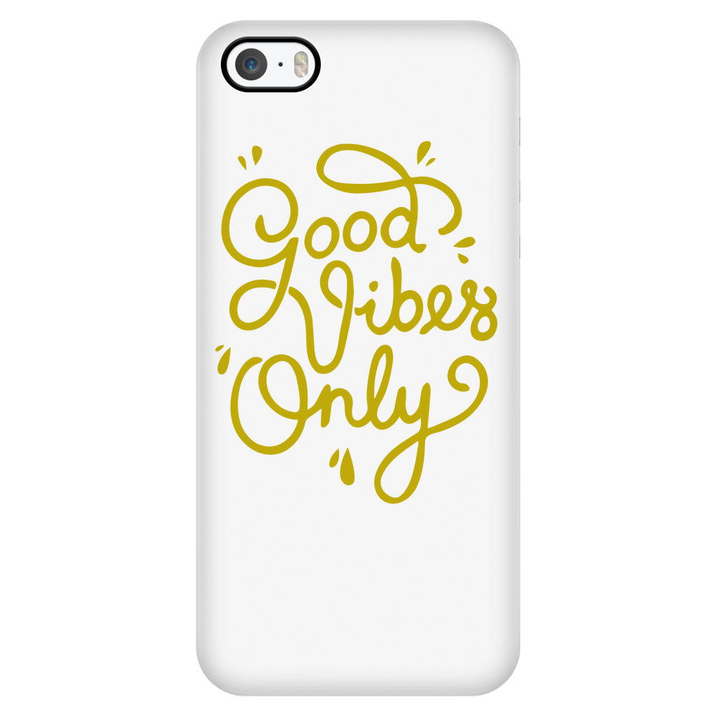 "All Woman Brands ""Good Vibes Only"" Inspirational iPhone 5/5S/SE Case"