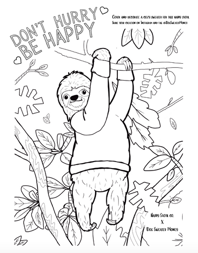 Brand New Sloth Coloring Page!