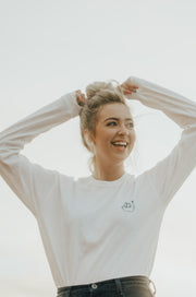 Basic White Sloth Long Sleeve