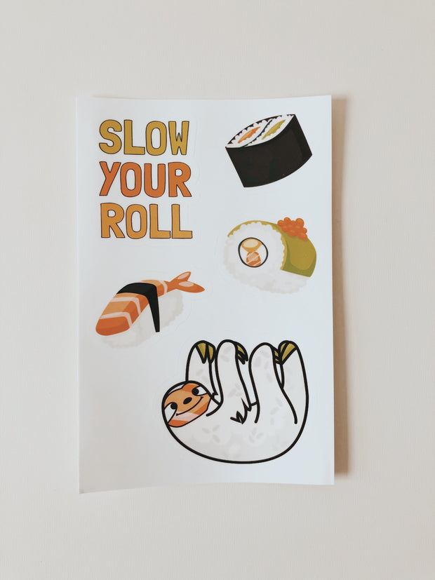 Sticker pack with 5 individual sushi stickers