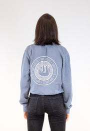 Indigo Crewneck Pullover Sweatshirt Sweater Happy Sloth
