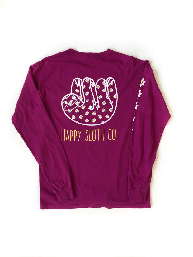 Daisy Long Sleeve Tee Happy Sloth Co.