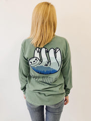 Happy Sloth Co. Mountain Long Sleeve Tee Shirt