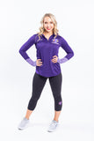 Thunderbirds Ladies Under Armour Purple 1/4 Zip