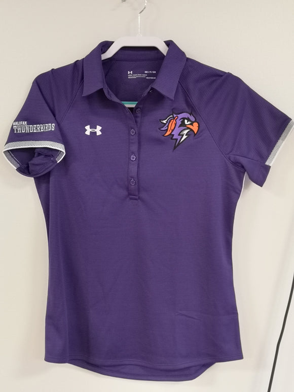 Thunderbirds Ladies Under Armour Purple Polo Tee