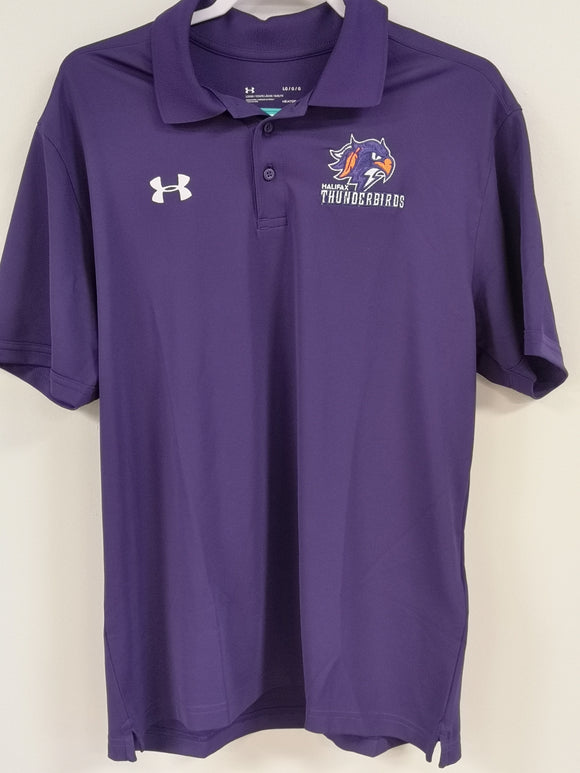 Thunderbirds Under Armour Purple Polo Tee
