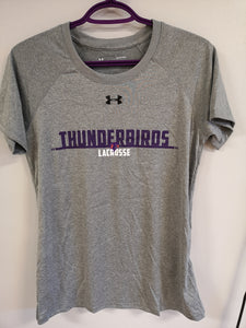 Thunderbirds Ladies Under Armour Two Tone Grey Tee