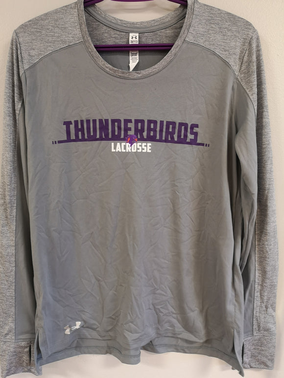 Thunderbirds Ladies Under Armour Long sleeve Light Grey