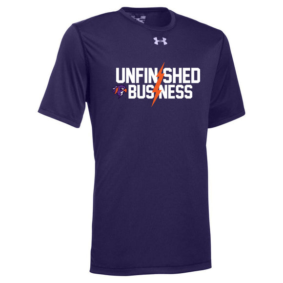 Thunderbirds Unfinished Business Purple UA Tee