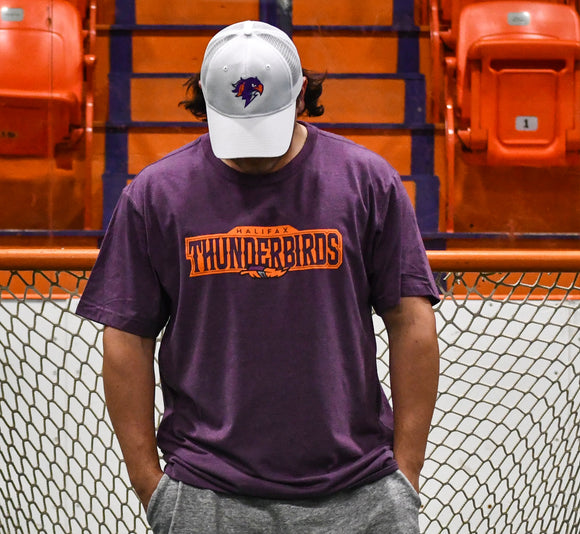 Thunderbirds Dark Purple Heather Tee